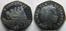 "Gibraltar 50 Pence 2001 ""Christmas"" UNC KM# 971 - Gibraltar"