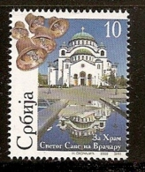 095. Serbia, 2008, Saint Sava's Temple, Surcharge, MNH (**) - Serbia