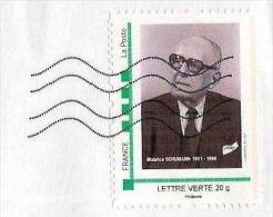 MonTimbraMoi MTM - Maurice Schumann (1911-1998). Lettre Verte 20 G. - Celebridades