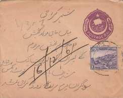 PAKISTAN - Alter Brief Mit Ganzsache + Zusatzfrankierung - Pakistan