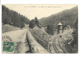 Cp, 15, Le Lioran, La ROute Et La Ligne De Chemin De Fer, Voyagée 1907 - Otros Municipios