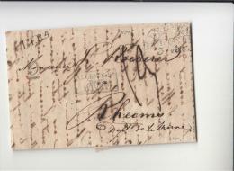 DE673-1834 Faltbrief Aus BREMEN Nach RHEIMS (FRANKREICH)-K2+L1T.T.R.4+Ra3 Transit Par Givet - Germania