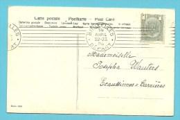 53 Op Kaart Met Mekanische Proefstempel / Cachet Mecanique Essai BRUXELLES / DEPART (7 Lijnen) - 1893-1907 Wappen
