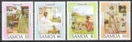 Samoa 1985 Religion Christentum Weihnachten Christmas Literatur Schriftsteller Robert Louis Stevenson, Mi. 576-9 ** - Samoa (Staat)