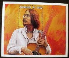 TCHAD Les Beatles, John LENNON, Musique.  Feuillet Emis En 1996  ** MNH.  (1) - Zangers