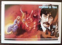 TCHAD Les Beatles, John LENNON, Musique.  Feuillet Emis En 1996  ** MNH.  (2) - Zangers