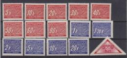 Dt.Bes.2.WK Böhmen & Mähren Porto MiNr. P1-15 ** (w573) - Occupation 1938-45