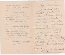 LAS De Helen Et Teillard De Nozerolles à Felgères De Dienne 1920 - Autographes