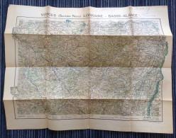 Carte Vosges -Lorraine - Basse Alsace - Avant 1939 - édition Taride - Cartes Géographiques