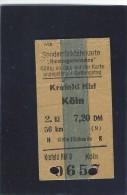 Sonderr�ckfahrkarte. Bundesgartenschau.  Krefeld Hbf.  K�ln.  Germany.  a-3577