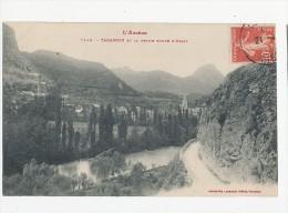 09 TARASCON LA PETITE ROUTE D USSAT CPA BON ETAT - Francia