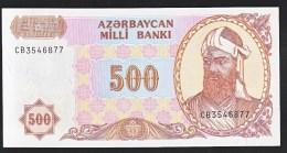 Azerbaijan 500 Manat 1993 P19b UNC - Arzerbaiyán