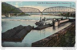 ETATS - UNIS ..-- CHARLEROI ..-- Monongahela River Pennsylvanie .1913 Vers BERTRIX ( Giltaire ).  Voir Verso . - Cartes Postales