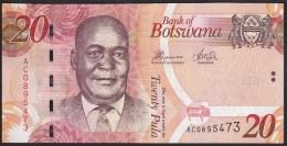 Botswana 20 Pula 2010 P31b UNC - Botswana