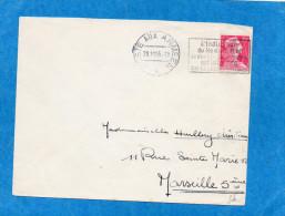 MARCOPHILIE-lettre-poste Aux Armées 1955aft 15 Frsmuller+ Indication Du BPM  Interdite Au Dos Sp74622 Manuscrit - Poststempel (Briefe)