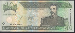 Dominicana 10 Pesos Oro 2003 P168c UNC - República Dominicana