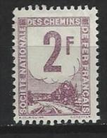 "Petits Colis  YT 2 "" 2F. Violet "" 1944-47  Neuf* - Paketmarken"