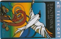 Denmark, JP 017, Tunoe Festival 1993, Bird,  Mint, Only 2.500 Issued, 2 Scans. - Denmark
