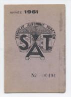 Syndicat Autonome Traction M�tropolitain Paris--1961-C22