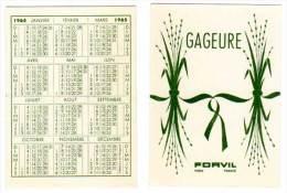 Carte Parfumée, Gageure, Forvil (calendrier 1965) - Cartes Parfumées