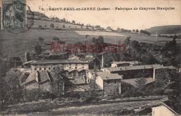 42  - SAINT PAUL En JAREZ  - Fabrique De Crayons Marquise 1907 - 2 Scans - Saint Jean Soleymieux