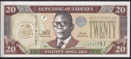Liberia 20 Dollar 2011 P28 UNC - Liberia
