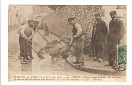 TOURS - INDRE ET LOIRE - CRUES DE LA LOIRE 1907 - LA LOIRE MENACE D'INONDER PAR LES EGOUTS LE QUARTIER SAINT SYMPHORIEN - Tours