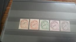 LOT 264481 TIMBRE DE FRANCE NEUF** N�39 A 43 VALEUR 49,5 EUROS  LUXE