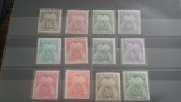 LOT 264520 TIMBRE DE FRANCE NEUF** N�78 A 89 VALEUR 150 EUROS