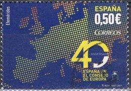 2017 - SPAGNA / SPAIN - 40mo ANN. ENTRATA NEL CONSIGLIO D'EUROPA / 40th ANN. ENTRY INTO EUROPEAN COUNCIL - USATO / USED - 2011-... Usati