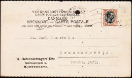 1919. King Christian X. 25 Øre Brown/black KJØBENHAVN 21.4.21.  (Michel: 100) - JF175624 - Danemark