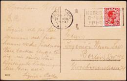 1922. King Christian X. 25 Øre Red KJØBENHAVN 2 VIII 1924. (Michel: 122) - JF175625 - Danemark