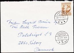 1969. Girl And Eagel. 80 Øre Brown. GODTHÅB 29. 7. 1971.  (Michel: 73) - JF175607 - Gebraucht