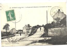 44  SAVENAY   LA  ROUTE  DE   ST  NAZAIRE  ET    LE  CHEMIN  DU  ROCHER - Savenay