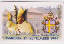 POPE - SLOVENIA - 100UNITS - PAPA - JOHN PAUL II. - ANTON MARTIN SLOMSEK - VERY RARE! - Personaggi