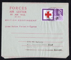 1964  Forces Air Letter From British Contingent UN Forces In Cyprus  SG 642 To  Canadian Forces PO In Germany - 1952-.... (Elizabeth II)