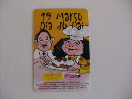 Confectionery Confiserie Confeitaria Elvina Dia Do Pai Portugal Portuguese Pocket Calendar 2002 - Calendari