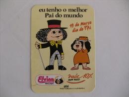 Confectionery Confiserie Confeitaria Elvina Dia Do Pai Portugal Portuguese Pocket Calendar 1996 - Calendari