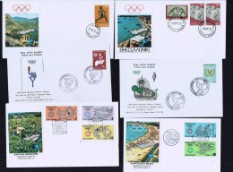 Collection Of 33 Covers Showing Olympic Flame Travel Through  7 Countries - Summer 1972: Munich