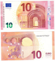 Germany 10 Euro 2014 E004I3, Oberthur Fiduciaire (France) U Draghi UNC - 10 Euro