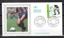 """Enveloppe 1er Jour En SOIE De 2002 """" CHAMPIONS DU MONDE DE FOOTBALL """" N° YT 3484. Parfait état ! FDC"""