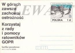 W POLAND - 1979.09.18. Cp 736 70th Years Volunteer Mountain Rescue Service In Zakopane - Entiers Postaux