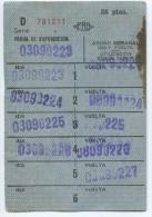 ABONO SEMANAL 36 PTAS // METRO DE BARCELONA / A�OS 1970