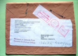 Russia 2010 Cover To Nicaragua - Machine Franking - Custom Declaration - 1992-.... Fédération