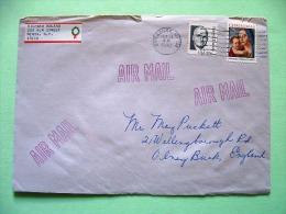 USA 1990 Cover To England - Christmas Truman - United States