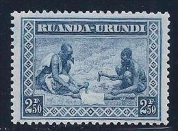 Ruanda-Urundi, scott #49 MNH Workers Preparing Hides, 1937