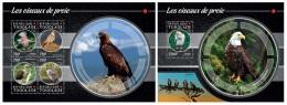 tg15222b Togo 2015 Birds of Prey Eagle 2 s/s
