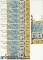 BRESIL 100 CRUZADOS  ND1986-88  UNC P 211 B (10 Billets) - Brazil