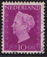 PLAATFOUT 1 E Van NEderland In De Voet Niet Volledig Zegel 17 In 1947-48 Koningin Wilhelmina  10 Cent Purper NVPH 478 P1 - Variétés Et Curiosités