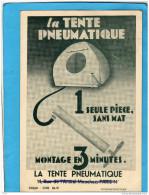 CAMPING-LA TENTE PNEUMATIQUE  -carte RARE--a Circulé En 1932 - Werbepostkarten